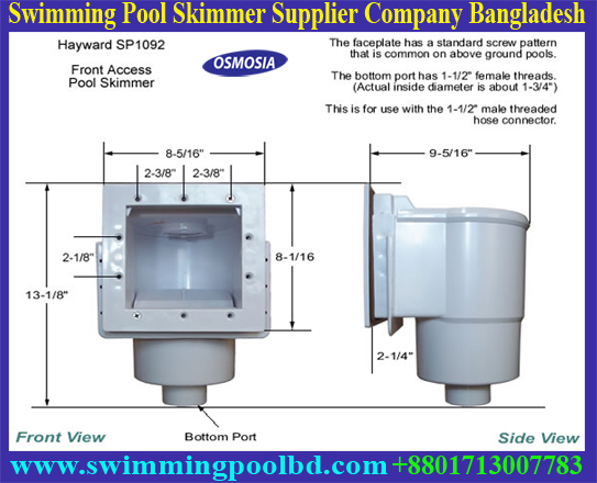 Swimming Pool Equipment Skimmer For Swimming Pool
